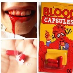 Blutkapseln zum kauen Blut Kapsel Halloween Gruselpartys Zombie Blut Filmblut