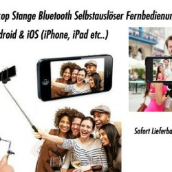 Selfie Set Stativ + Halter + Fernbedienung Android iPhone iOS Handy Smartphone