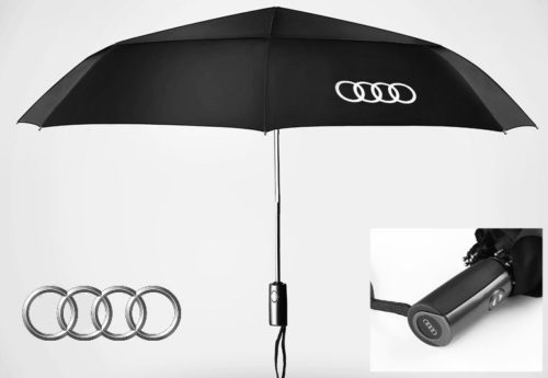 audi auto fan regenschirm geschenk automatisch schwarz. Black Bedroom Furniture Sets. Home Design Ideas