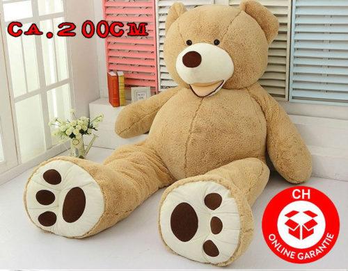 pl sch teddy teddyb r pl schb r 2m xxl 200cm geschenk hit. Black Bedroom Furniture Sets. Home Design Ideas