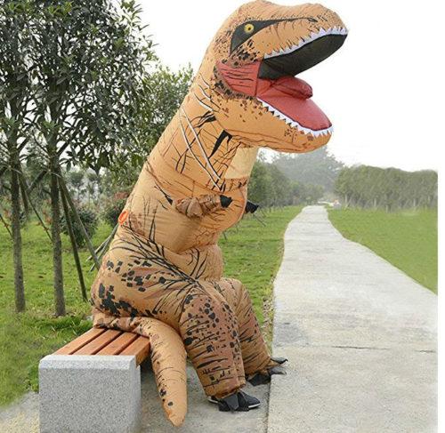 jurassic park t rex tyrannosaurus dino dinosaurier kost m aufblasbar erwachsene sonstiges. Black Bedroom Furniture Sets. Home Design Ideas