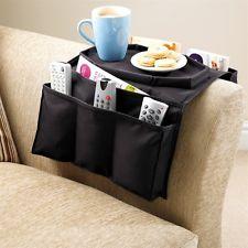 Fernbedienungshalter Sofa Couch Ablage Tablet Organizer 6 Taschen Abstelltisch