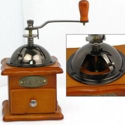 Nostalgie Kaffeemühle Kaffee Mühle Espressomühle aus Holz mit Gussmahlwerk