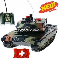 Funkgesteuerter 3 Channel Panzer inkl. Fernbedienung, Akku, Ladegerät Zubehör
