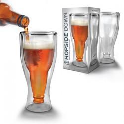 Bierglas Hopside Down Design Glas – Ein Glas Verkehrtrum Geschenk Idee
