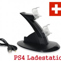 Edle Dual Doppel Ladestation für Playstation 4 PS4 Controller PS4