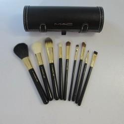 Profi MAC Pinsel Set 9 Mac Pinsel + Etui Makeup Schminkset