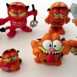5 Grosse und 2 Mini Garfield Figur Bully 1978 – 1981 Unbespielt